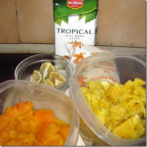 Tropical Fruit Shake Ingredients