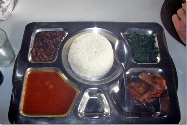 Restaurant Food in rural Tanzania