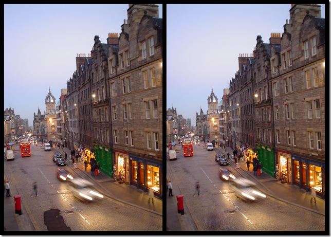 Moon Rise Over St. Giles - Picasa before/after