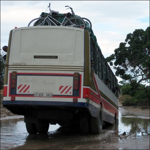 Stuck on a Bad Road in Tanzania