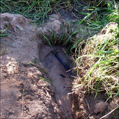 formerly underground pipe