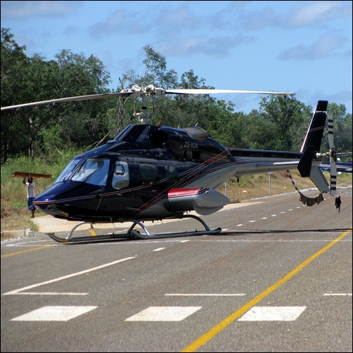 Helicopter in Mozambique
