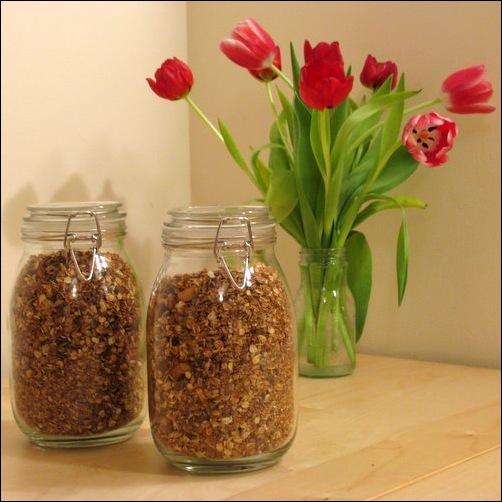 granola & tulips