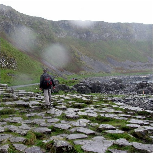 Giant's Causeway in the Rain 1