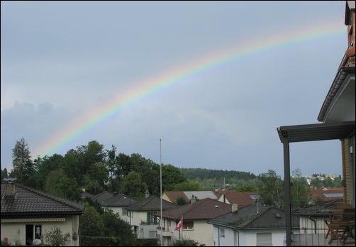 August rainbow