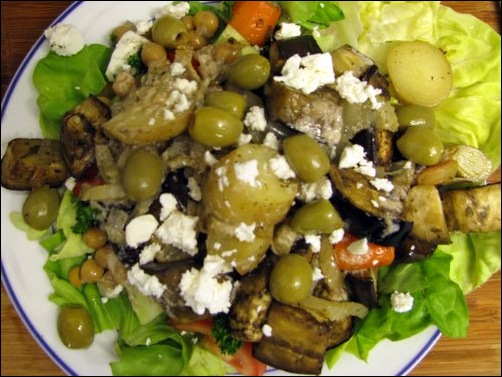 roasted greek salad